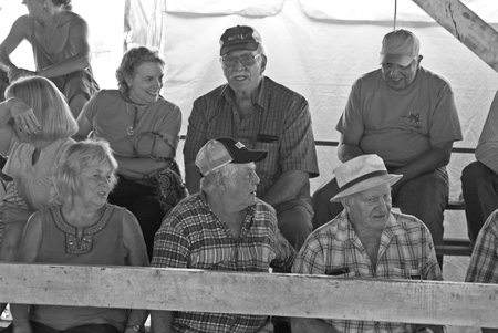 Crowd at cattle-judging event